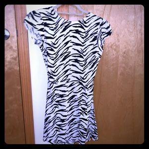 Reformation zebra print dress